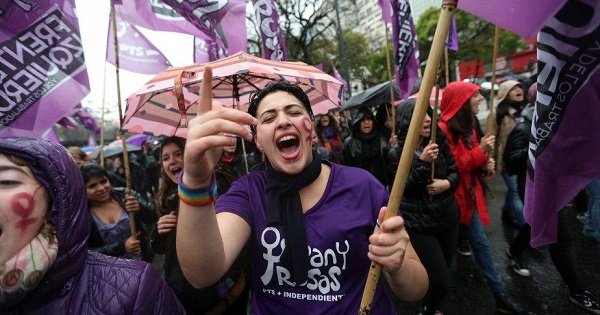 Latin America's movement has been inspired by demostrations propelled by anti-femicide activists in Argentina.