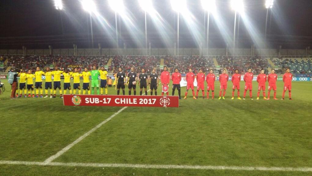 Chile y Colombia empatan a uno y lideran grupo del Sudamericano