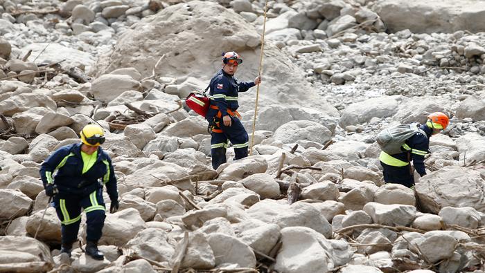 Al menos tres muertos y 19 desaparecidos por aluviones en Chile