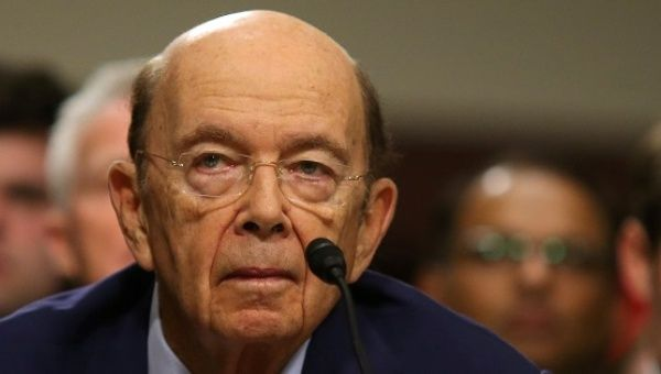 Wilbur Ross testifies during a confirmation hearing on his nomination to be commerce secretary at Capitol Hill in Washington, U.S., Jan. 18, 2017.