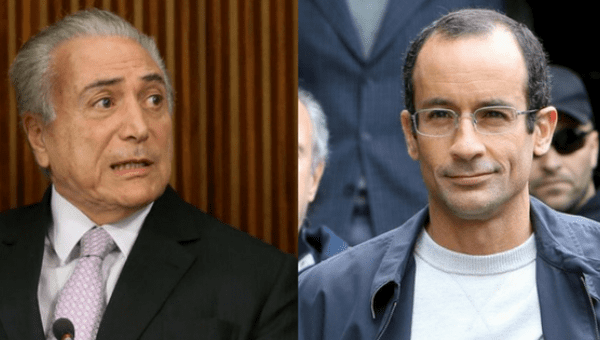 President Michel Temer (L), who is banned from running for office for eight years, could face a political trial after Marcelo Odebrecht