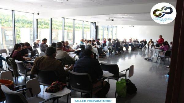 Organizadores del Congreso Nacional de Paz iniciaron la instalación de talleres preparatorios sobre justicia social.