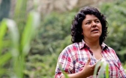 Berta Caceres, Honduran indigenous leader who was killed in March 2016 because of her activism