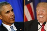Fomer U.S. President Barack Obama and current President Donald Trump.