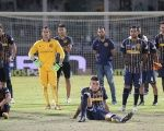 Players from Rosario Central, one of the striking teams, after losing a match to River Plate, Dec. 15, 2016.