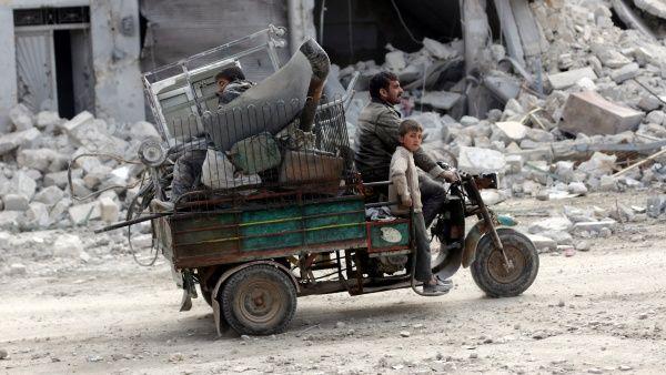 Al-Bab, dominada hasta hace poco por el grupo terrorista Daesh, ha sido devastada debido a la guerra.