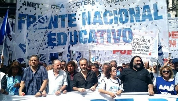 Education workers strike to demand better wages in Argentina.