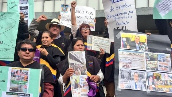 Thousands protest in Quito on the 18th anniversary of Ecuador