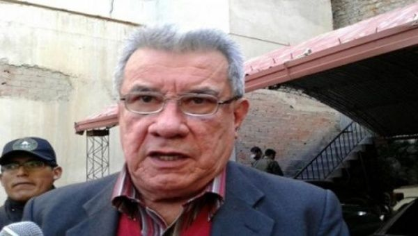 Former Bolivian Governor and right-wing opposition leader Leopoldo Fernandez
