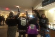 Native American women protest inside museum that forced them to remove