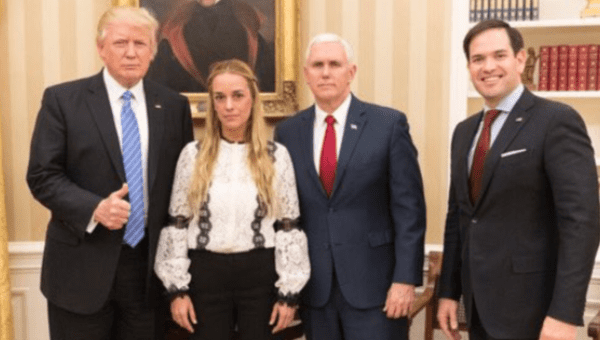 U.S. President Donald Trump has met with Lilian Tintori, an outspoken opponent of Nicolas Maduro.