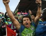 Seattle Sounders midfielder Nicolas Lodeiro celebrates winning a game against the Colorado Rapids,  Nov. 27, 2016.