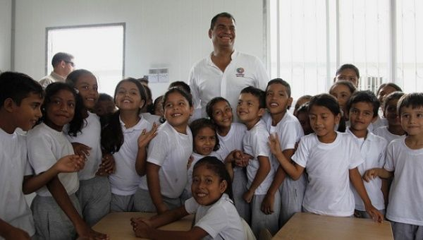 The government of President Rafael Correa invested millions in ensuring access to free and high quality education in Ecuador.