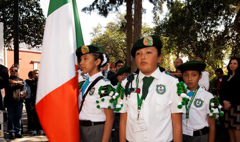 Mexican children commemorate the St. Patrick