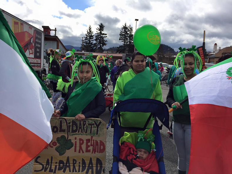 Mexican and Mexican-Irish communities in the United States also celebrate the San Patricios