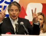 Right-wing Ecuadorean presidential candidate Guillermo Lasso.