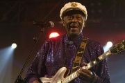 Rock and roll legend Chuck Berry performs during a concert in Burgos, northern Spain, Nov. 25, 2007.