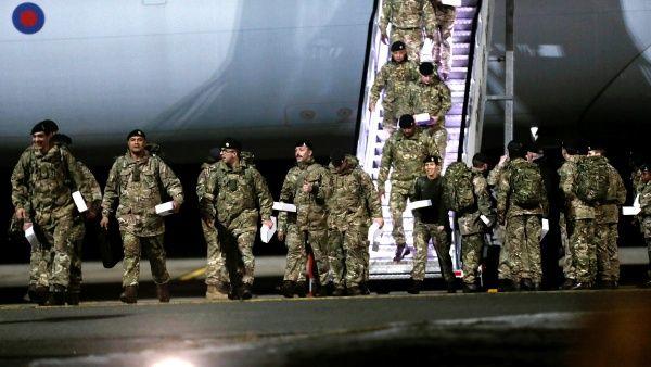 Soldados británicos, que forman parte de un elemento de disuasión de la OTAN contra Rusia.