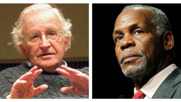 Noam Chomsky and Danny Glover