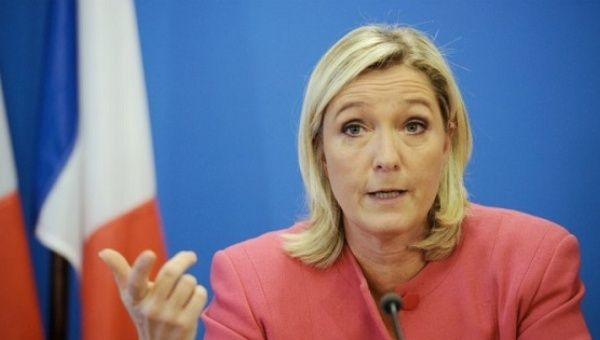 Far right French presidential candidate Marine Le Pen.