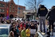 Protesters gather in Vermont in solditary against targeted ICE deportations of activists.