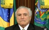 Brazil's interim President Michel Temer reacts during a meeting of the presentation of economic measures, at the Planalto Palace in Brasilia, Brazil, May 24, 2016.