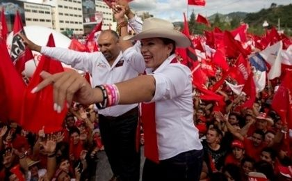 Xiomara Castro is the first woman presidential candidate in Honduras.