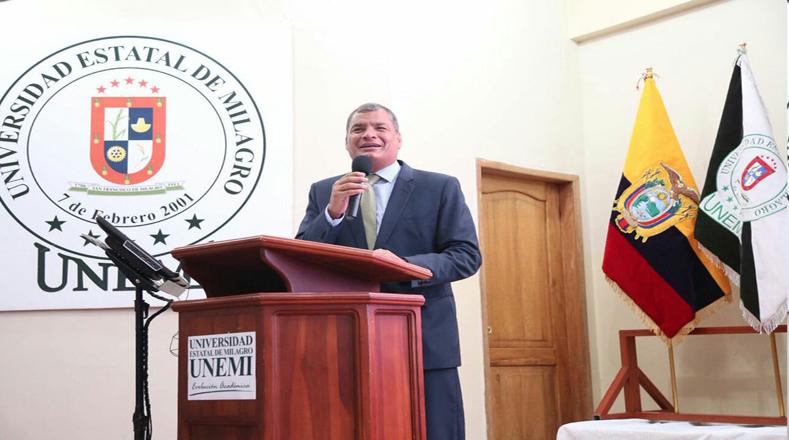 Correa destaca el cambio de las relaciones de poder en Ecuador