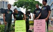 LGBTQI activists from CAISO during an International Day Against Homophobia and Transphobia event