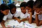 Children studying in a state school in Caracas, Venezuela. May 23, 2014