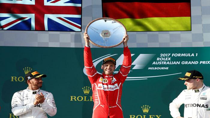 Sebastian Vettel gana primera carrera del Mundial de Fórmula 1