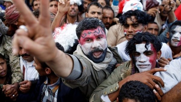 Supporters of the Houthi movement and Yemen