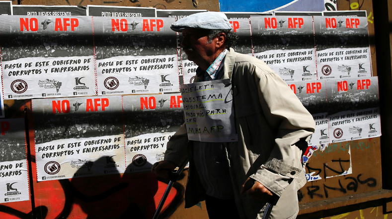 Las AFP administran los fondos de pensiones de unos 10 millones de trabajadores, entregando pensiones bajísimas a sus afiliados, muy lejos de su promesa de retribuir el 70 por ciento del último salario.