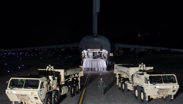 Terminal High Altitude Area Defense interceptors arrive at Osan Air Base in Pyeongtaek, South Korea.