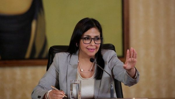 Venezuelan Foreign Minister Delcy Rodriguez slammed the OAS and what she calls an attempt to topple the government of Nicolas Maduro.