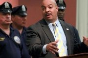 Philadelphia District Attorney Seth Williams speaks during a news conference at the district attorney's office in Philadelphia, Pennsylvania.