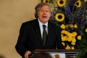 OAS Secretary-General Luis Almagro addresses the audience during an official visit to Honduras, in Tegucigalpa.