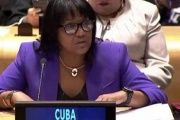 Cuban Permanent Representative to the U.N. Anayansi Rodriguez.