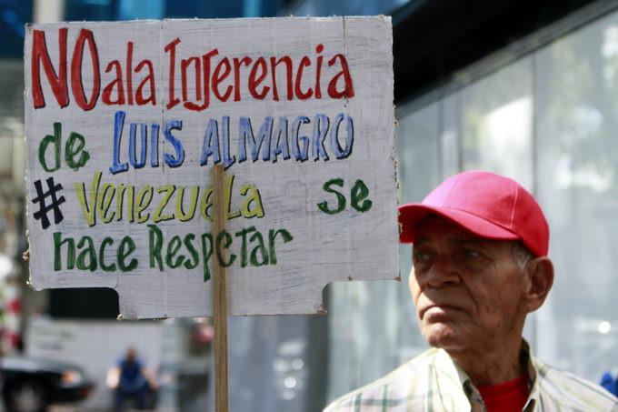 El pueblo venezolano rechaza la ofensiva de la derecha del continente contra la Revolución Boliviariana.