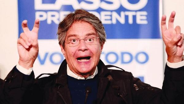 Ecuadorean presidential candidate Guillermo Lasso
