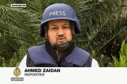 Ahmad Zaidan, Al Jazeera's Islamabad bureau chief, is shown here reporting from Damascus, Syria.