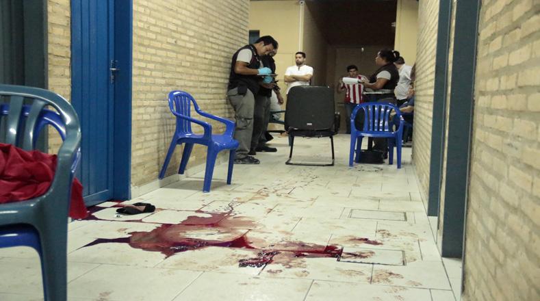 La Fiscalía recoge pruebas en la escena de los hechos donde murió Rodrigo Quintana.