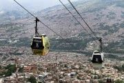Cable cars in Medellin, Colombia.