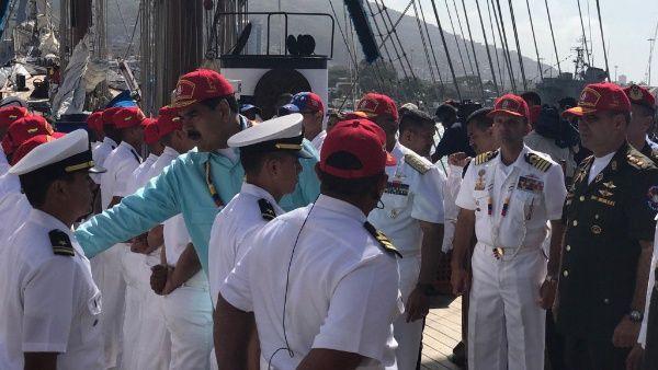 El presidente venezolano estuvo en Vargas en un acto militar.