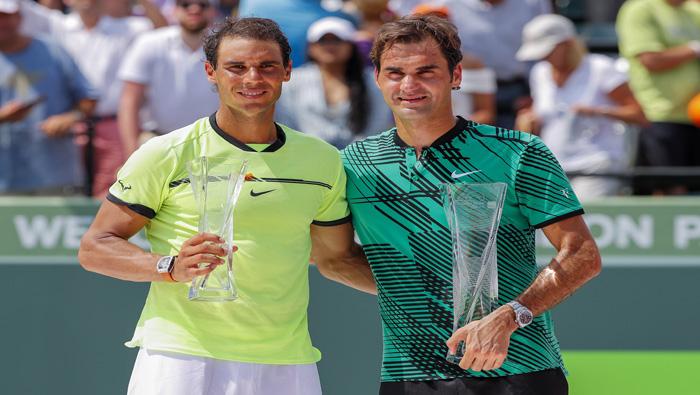 Federer y Nadal entre los cinco mejores del ranking nuevamente