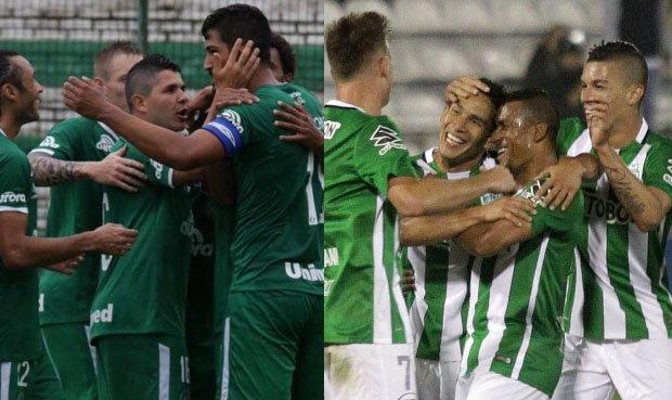 Chapecoense y Atlético Nacional finalmente se ven hoy las caras
