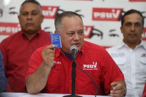 Primer vicepresidente del PSUV, Diosdado Cabello.