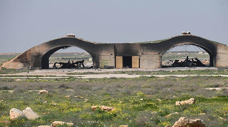 El ataque con misiles de EE.UU. sobre la base aérea siria destruyó seis aviones MiG-23 de la Fuerza Aérea de Siria que estaban en hangares de reparación.