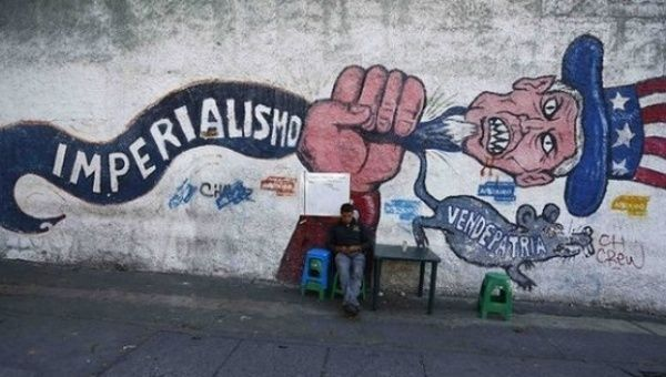 An anti-imperialist mural in Caracas.