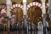 The great mosque in Cordoba, Spain, the Mezquita, built from 784 to 987 AD